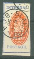 British Central Africa: 1898   Internal Postage    SG56    1d  Vermilion & Deep Ultramarine  [Imperf]    Used - Nyasaland (1907-1953)