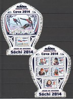 ST966 !! HOLOGRAPHIC 2016 GUINE GUINEA-BISSAU SPORTS OLYMPIC GAMES SOCHI 2014 1KB+1BL MNH - Winter 2014: Sotschi