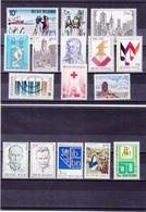 BELGIQUE 1971 Yvert 1588-1595 +  1599-1604 + 1608-1609 NEUF** MNH - Belgique