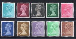 Great Britain - 1971 - 10 Definitive Machins - MNH - 1952-.... (Elisabeth II.)