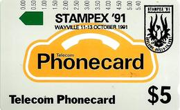 AUSTRALIA $5 O/P STAMPEX'91 ON GENERIC ISSUE NOT FOR GENERAL SALE AUS-015 SCARCE MINT  READ DESCRIPTION !! - Australia