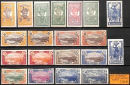 [836980]TB//*/Mh-France (Ex Colonie) Martinique 1922 - N° 92/104, Série Complète Dont Nuances - Martinique (1886-1947)