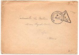 Lettre Du 31.12(44) Avec Censure FFI (Croix De Lorraine) Triangulaire N° ?018 - Guerra Del 1939-45