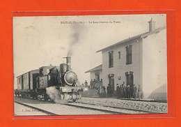 66 Baixas 1911 Top RARe Locomotive Beau Plan La Gare Entrée Du Train Fau éditeur Dos Scanné - France