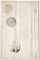 CaD 'LIGNE De CHATEAUROUX 1' De 1848 Au Verso D'une Lettre Sans Texte - Bahnpost