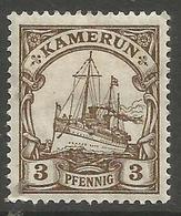 German Cameroun - 1918 Kaiser's Yacht 3pf Mint Hinged *    Sc 20 - Colony: Cameroun