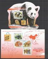 ST1072 2015 GUINE GUINEA-BISSAU FAUNA WILD ANIMALS PANDA LION HONG KONG 2015 KB+BL MNH - Osos
