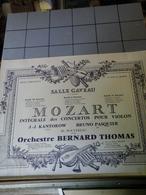 Affiches  - Salle Gaveau - Mozart Intédrale Des Concertos Pou Violon Orchertre Bernard Thomas. - Afiches