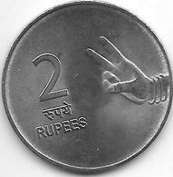 *india 2 Rupee 2007  Km 327  Unc - Inde