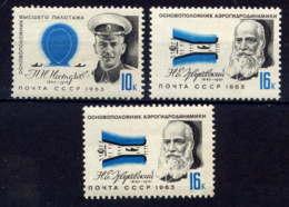 RUSSIE - 2706/2708** - CELEBRITES DE L'AERONAUTIQUE - 1923-1991 URSS