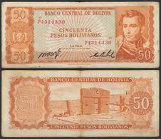 Bolivia / 1962 / 50 Pesos Bolivianos / P: 162a / VF - Bolivia