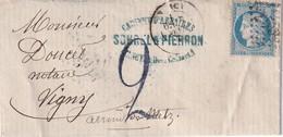 FRANCE 1872 LETTRE DE NANCY - Postmark Collection (Covers)