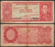 Bolivia / 1962 / 100 Pesos Bolivianos / P: 163a / VF - Bolivia