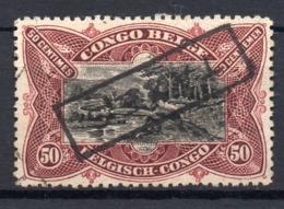 BELGISCH CONGO: COB TX 46 GESTEMPELD - Belgisch-Kongo