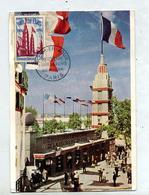 Carte Maximum 1954 Paris Foire  Trace Usure - Cartes-Maximum