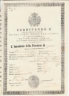 Passaporto Per L'interno, Regno Delle Due Sicilie, Comico Che Dall'Aquila Si Reca A Teramo 1852 - Seals Of Generality