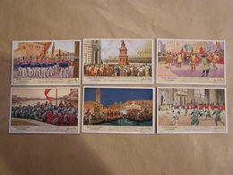 LIEBIG Fêtes Populaires Italiennes Italie Folklore Gubbio Sienne Florence Pise  Série De 6 Chromos Trading Cards Chromo - Liebig