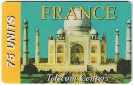 FRANCE C-493 Prepaid Gnanam - Landmark, Taj Mahal - Used - Frankreich