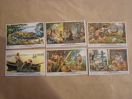 LIEBIG Villages Lacustres Histoire Peuple Série De 6 Chromos Trading Cards Chromo - Liebig