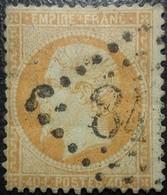FRANCE Y&T N°23a Napoléon 40c Orange Clair. Oblitéré Losange G.C - 1862 Napoleon III
