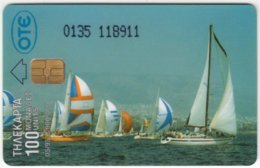 GREECE E-041 Chip OTE - Leisure, Sailing - Used - Griechenland