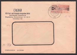 Magdeburg, DDR ZKD B29BC 20 Pf. Wertstreifen, RFT Funk- Und Fernmelde-Anlagenbau Berlin 24.8.60, Zentraler Kurierdienst - [6] République Démocratique