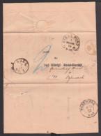 Post-Behändigungsschein Stralsund 7. NOVBR 72 Hufeisenstempel, An Königl. Grundbuchamt Pasewalk - Deutschland
