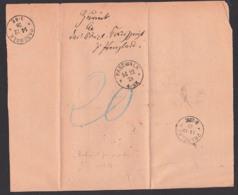 Behändigungsschein Pasewalk 14.12.1878, Prenzlau Mit Zurück-Vermerk Und Gebührenerhebung - Mecklenburg-Schwerin