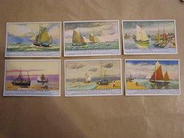 LIEBIG Anciens Bateaux De Pêche à Voile Du Littoral Belge Marine Navire Ostende  Série De 6 Chromos Trading Cards Chromo - Liebig