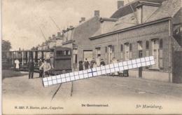 """STE.MARIABURG-EKEREN-ANTWERPEN"""" DE GEESTENSTRAAT MET STOOMTRAM""""HOELEN 1857 UITGIFTE 1906 TYPE 3 - Antwerpen"""