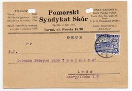 Poland Torun Advertisement 1937 - 1919-1939 Republic