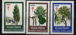 PIA - FINLANDIA  - 1969 : Sovrattassa A Favore Della Lotta Contro La Tubercolosi - Bacche -  (Yv 624-26) - Altri