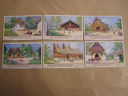 LIEBIG Habitations Caractéristiques Des Iles Du Pacifique Nouvelle Guinée  Série De 6 Chromos Trading Cards Chromo - Liebig