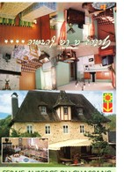 Carte D'hotel Restaurant à MONCEAUX SUR DORDOGNE, 2 Volets, Pli Sur Un Volet - Cartes D'hotel