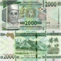 GUINEA      2000 Francs      P-New       2018      UNC - Guinea