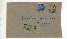 Poland Registered Krakow Lwow 1935 - 1919-1939 Republic