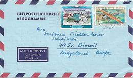 PAPUA NEW GUINEA 1984 AEROGRAMME Sent To Suisse 2 Stamps AEROGRAMME USED - Papouasie-Nouvelle-Guinée