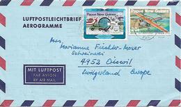 PAPUA NEW GUINEA 1984 AEROGRAMME Sent To Suisse 2 Stamps AEROGRAMME USED - Papua New Guinea