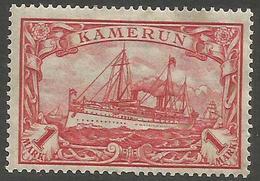 German Cameroun - 1915 Kaiser's Yacht 1mk MH *    Sc 24 - Colony: Cameroun