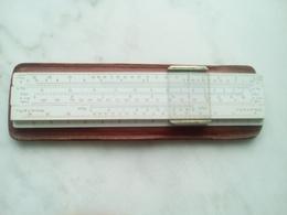 OBJET PUBLICITAIRE BP - Règle à Calculer RAPHOPLEX 15.2cmx3.2cm  Avec Sa Housse Cuir - ANNEES 60 - Other