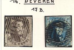 P16 BEVEREN NR.6+7 - 1851-1857 Médaillons (6/8)