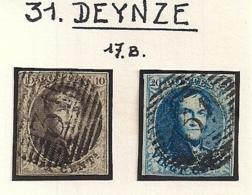 P31 DEYNZE NR.6+7 - 1851-1857 Médaillons (6/8)