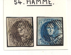 P54 HAMME NR.6+7 - 1851-1857 Medaillons (6/8)