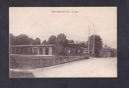 Neuf Brisach Ville (68) La Gare ( Chemin De Fer Passage à Niveau ) - Neuf Brisach