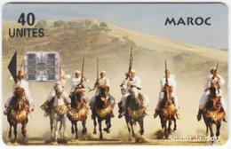 MAROC A-200 Chip StudioJauson - Animal, Horse, Traditional Warriors - Used - Morocco