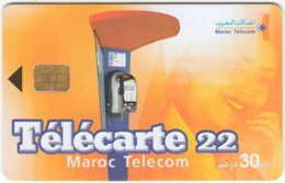 MAROC A-220 Chip Telecom - Communication, Phone Booth - Used - Morocco