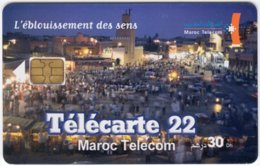 MAROC A-234 Chip Telecom - Landscape, Old Town - Used - Morocco