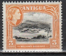 Antigua Single 3 Cent Stamp From The 1963 Definitive Issue With Change Of Watermark. - Antigua & Barbuda (...-1981)