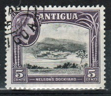 Antigua Single 5 Cent Stamp From The 1963 Definitive Issue With Change Of Watermark. - Antigua & Barbuda (...-1981)