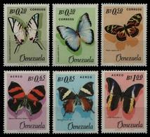 Venezuela 1966 - Mi-Nr. 1639-1644 ** - MNH - Schmetterlinge / Butterflies - Venezuela